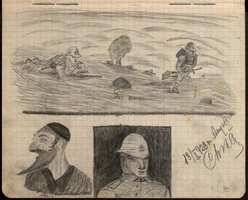 Karininko Vitolio Chščanavičiaus piešinių sąsiuvinis