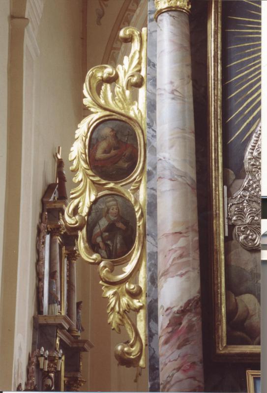 Švč. Mergelės Marijos Dangaus Karalienės altoriaus fragmentas su šv. Jeronimo atvaizdu.