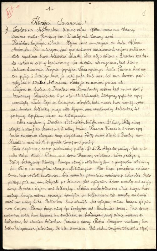 Savanorio Izidoriaus Makarsko atsiminimai