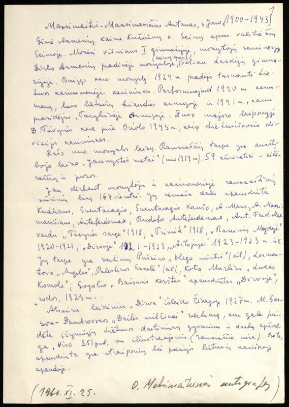 Majoro Antano Maksimaičio biografija