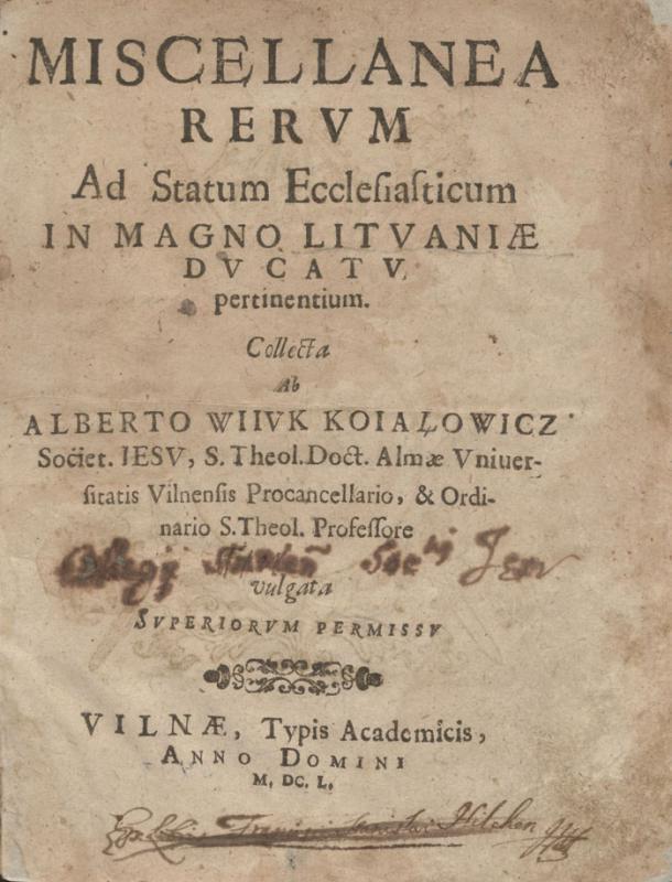 Kojalavičius-Vijūkas, Albertas (1609–1677).