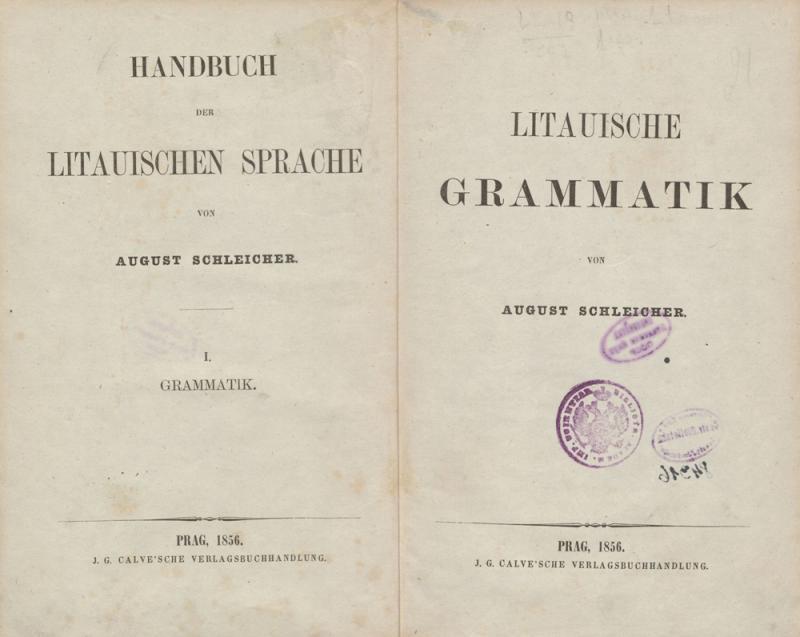 Schleicher, August. Litauische Grammatik