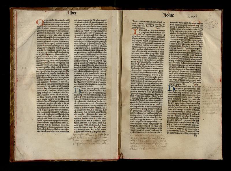 Biblia Latina. [Venezia: Nicolaus de Francofordia, ca 1485].