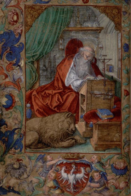 Šv. Jeronimas Žygimanto Senojo maldų knygoje. Lenkija, 1524–XVII a.