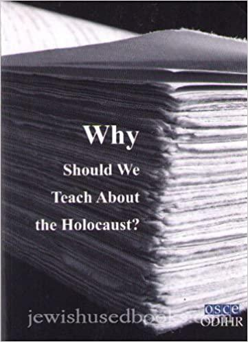 Why should we teach about Holocaust?