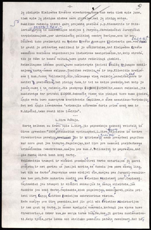 """Vytauto Mykolaičio straipsnis """"Fragmentai iš mano pašnekesių su Vincu Krėve""""."""