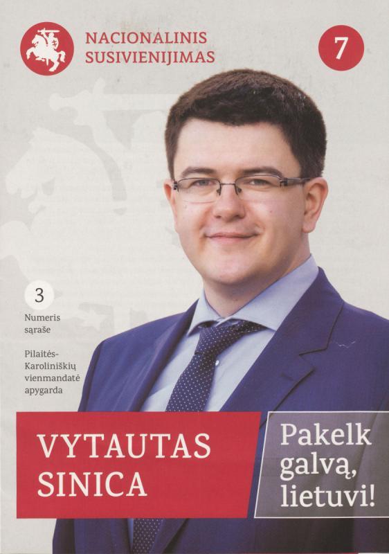 Vytautas Sinica. Nacionalinis susivienijimas