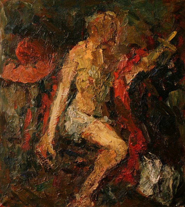Šv. Jeronimas. 2009, drobė, aliejus, 138 x 123 cm, privati kolekcija