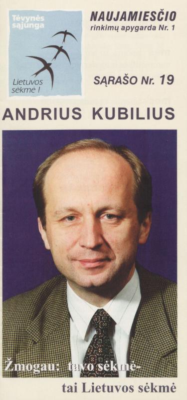 Andrius Kubilius. Lietuvos konservatoriai