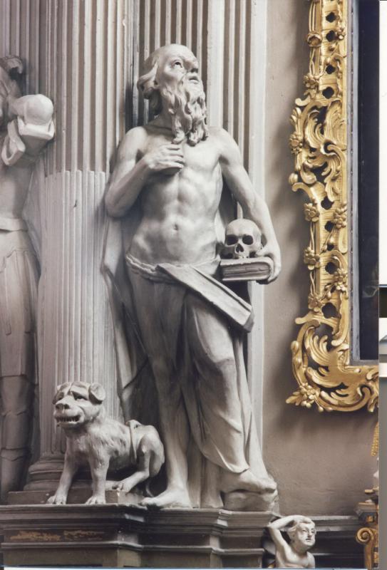 """Tomas Podhaiskis. Skulptūra """"Šv. Jeronimas"""", 1762–1778 m."""