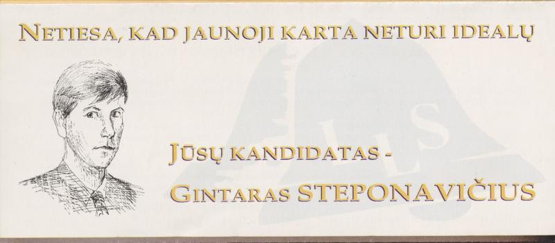 Lietuvos liberalų sąjunga. Gintaras Steponavičius