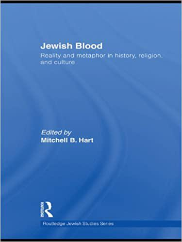 Jewish blood : reality and metaphor in history, religion, and culture