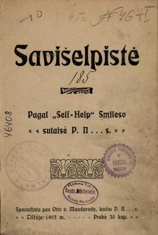 Smiles, Samuel. Savišelpistė