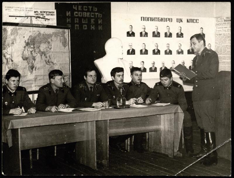 Raketų diviziono komjaunimo komiteto posėdis
