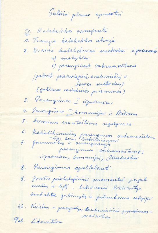 Schinle, Gertrudis. Kontempliatyvinis gyvenimas: trumpi mąstymai. [S. l., s. a.]. 41 lap. Versta iš: Schinle, Gertrudis. Kontemplatives Leben: kurze Betrachtungen. 2. Aufl. Leutesdorf am Rhein: Johannes-Verlag, 1968.