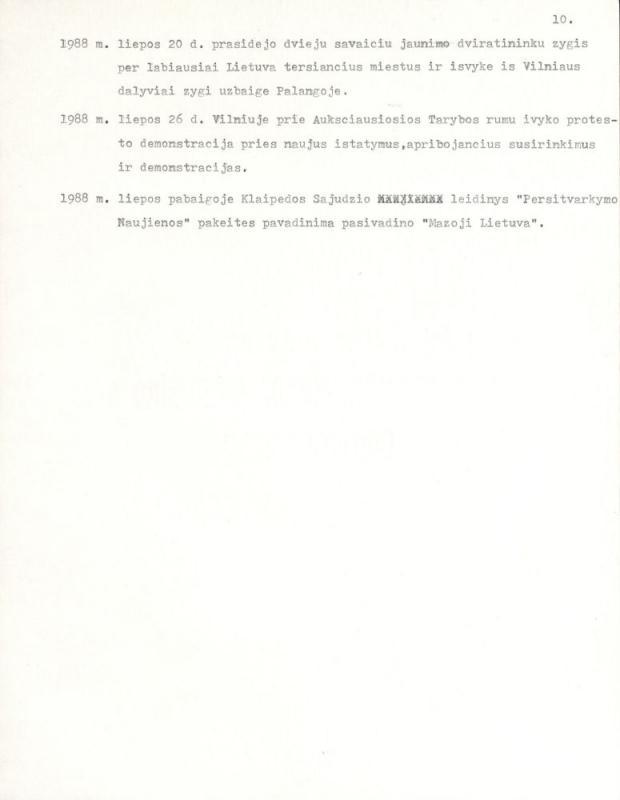 Ėringis, Kazys. Kelionė į amžinąją Lietuvą (įvykių chronologija 1972–1989 okupacijos metais).
