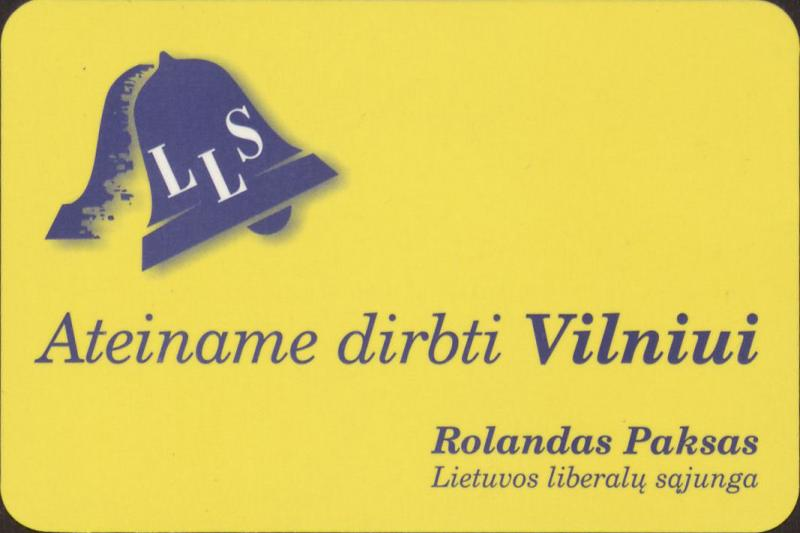 Lietuvos liberalų sąjunga. Rolandas Paksas