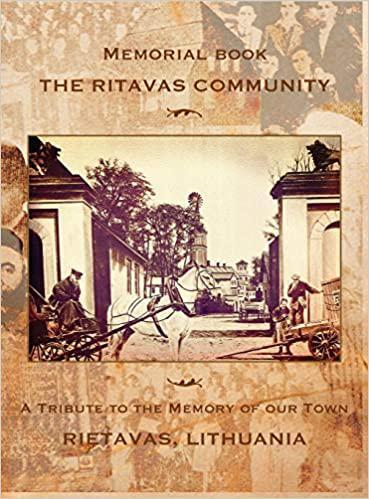 The Ritavas community : memorial book.