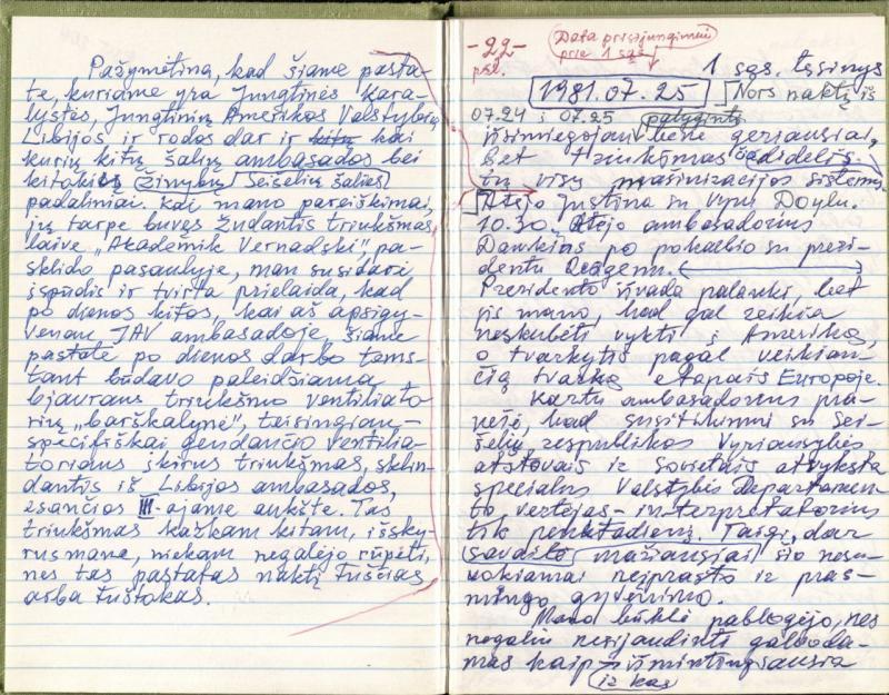 Kazio Ėringio dienoraštis. 1981 m. liepos 23 d.