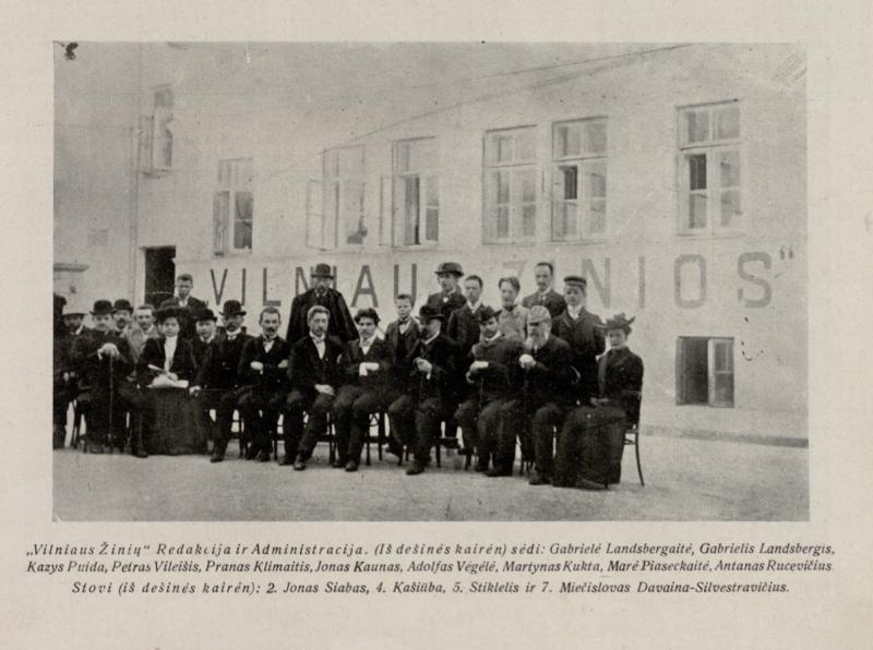 Vilniaus žinių redakcija 1905 m.