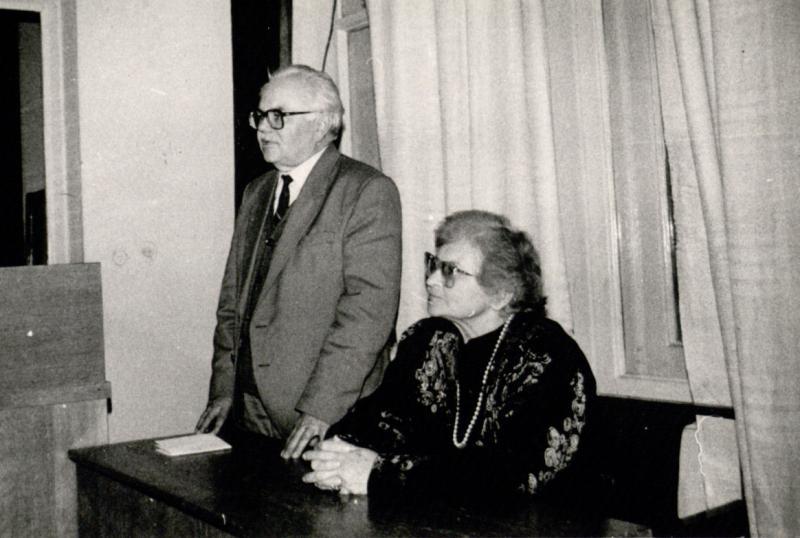 Vytautas Merkys ir Marija Gimbutienė Istorijos institute
