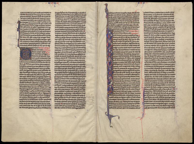 Sanctus Hieronimus Biblia [Paryžiaus Biblija]. Prancūzija, XIII a. Pergamentas. Lotynų k.