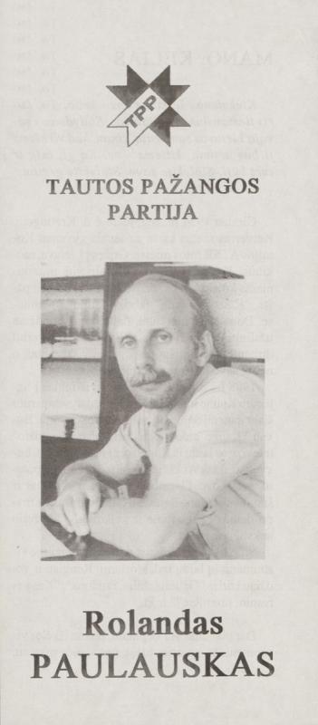 Rolandas Paulauskas. Tautos pažangos partija