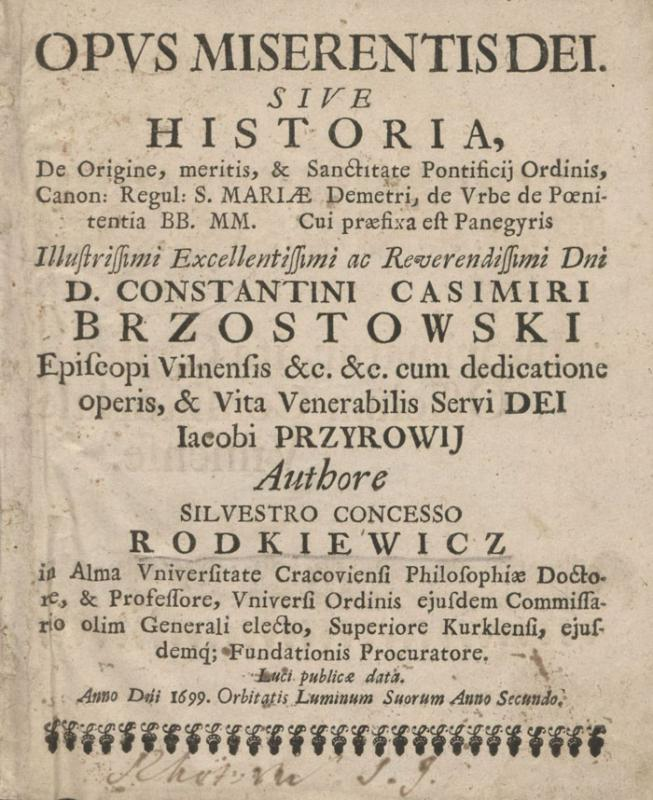 Rodkiewicz, Koncess Sylwester (?–1720).