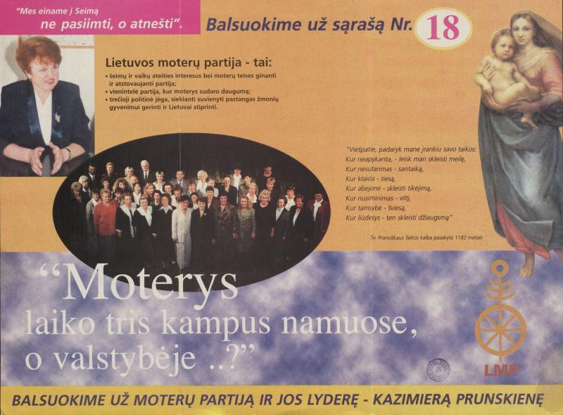 Kazimiera Danutė Prunskienė. Lietuvos moterų partija