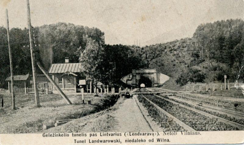 """Geležinkelio tunelis pas Lintvarius (""""Lendvaravą"""")"""