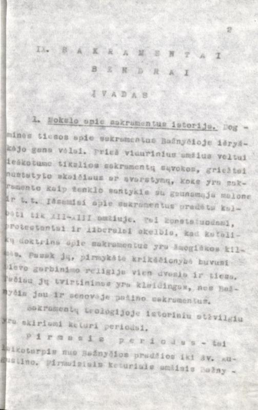 Bažnytinės iškalbos teorija. Kauno tarpdiecezinė kunigų seminarija. Kaunas, 1974. 100 lap.