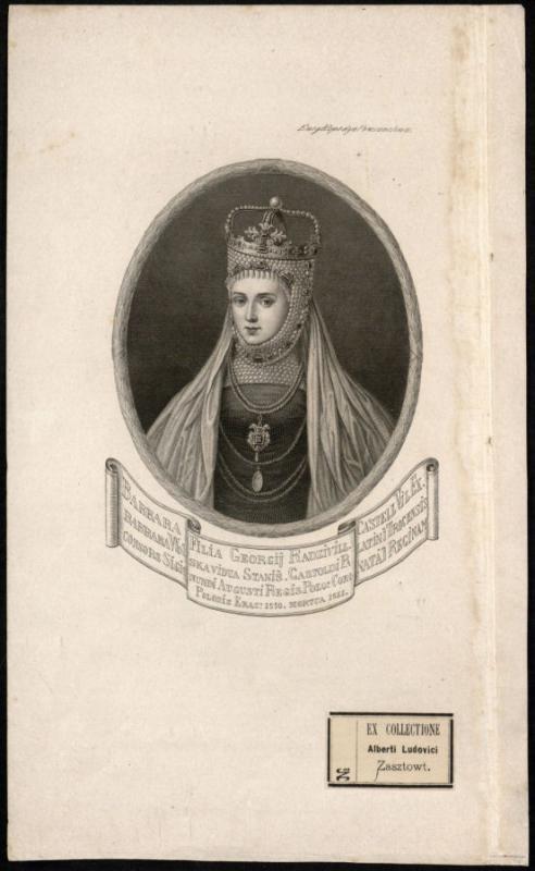 Lietuvos didžioji kunigaikštienė, Lenkijos karalienė Barbora Radvilaitė (1520–1551).