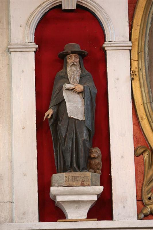 """Skulptūra """"Šv. Jeronimas"""", XVIII a. pab. – XIX a. I ketv."""