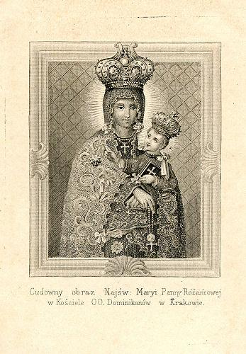Stebuklingas Švč. Mergelės Marijos Rožinės paveikslas Krokuvos dominikonų bažnyčioje