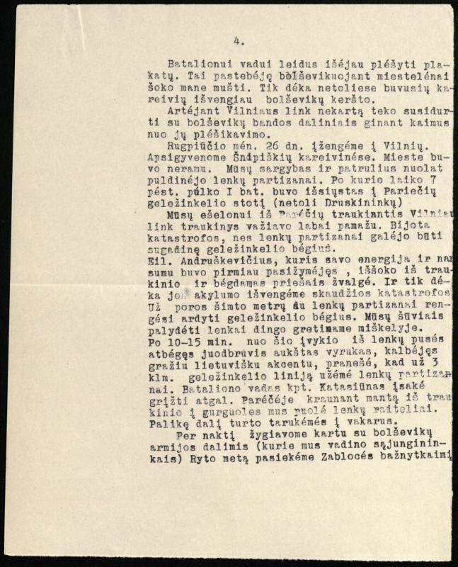 Vlado Kulvico prisiminimai apie 7-ojo pėstininkų pulko veiksmus.