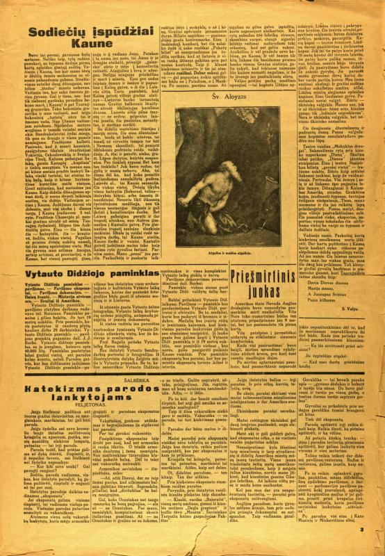 Parodos diena, 1930, birželio 19, p. 3.