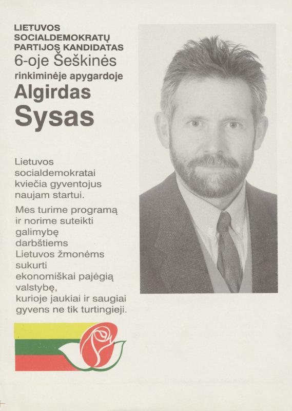 Algirdas Sysas. Socialdemokratai