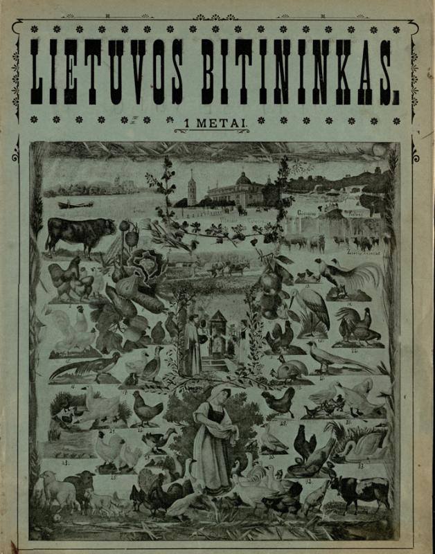 Lietuvos bitininkas: iliustruotas (su paveikslais) mėnesinis ūkininkų laikraštis. 1905, Nr. 1.