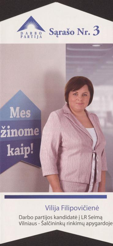 Vilija Filipovičienė. Darbo partija