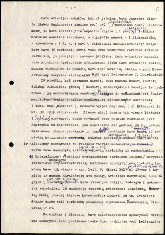 """Povilo Brazdžiūno atsiminimai """"Aviacijos pradžia Lietuvoje. Karo aviacijos mokykloje 1919–1920 m."""""""