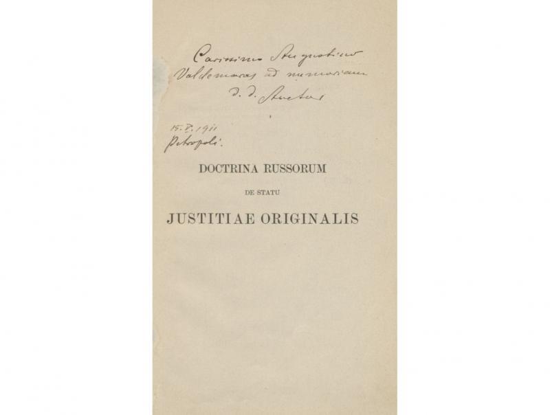 Matulaitis, Jurgis. Doctrina Russorum de statu justitiae originalis