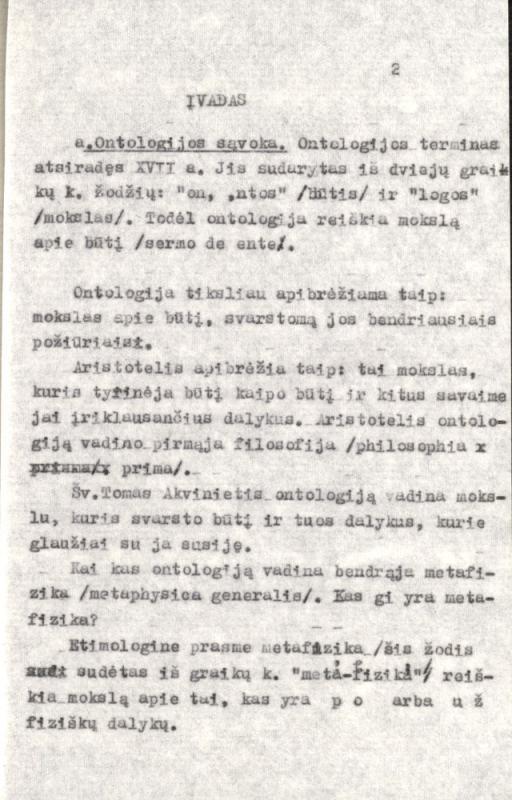 Ontologija. [S. l.], 1973. 178 lap.