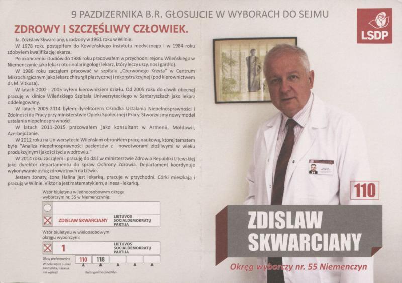 Zdislaw Skwiarcany. Socialdemokratai