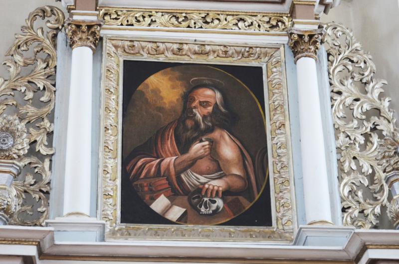 """Paveikslas """"Šv. Jeronimas"""", XVIII a. I p. (?)."""