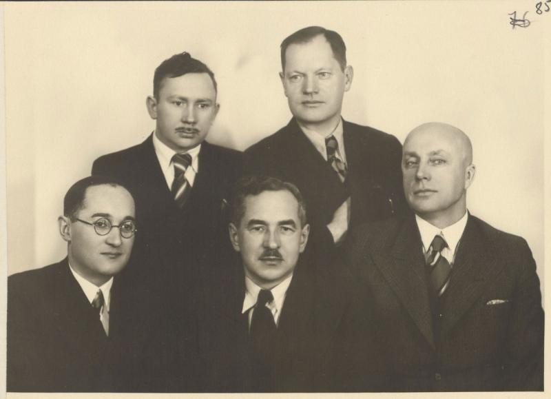 Trečiosios kadencijos (1937–1939) XXVII knygos mėgėjų valdyba. Kaunas, 1937 m. vasario 14 d.