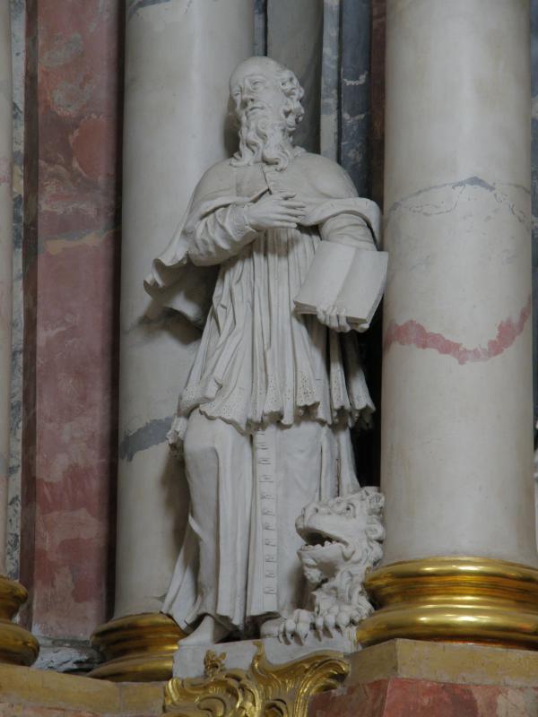 """Skulptūra """"Šv. Jeronimas"""", XVIII a. II p."""