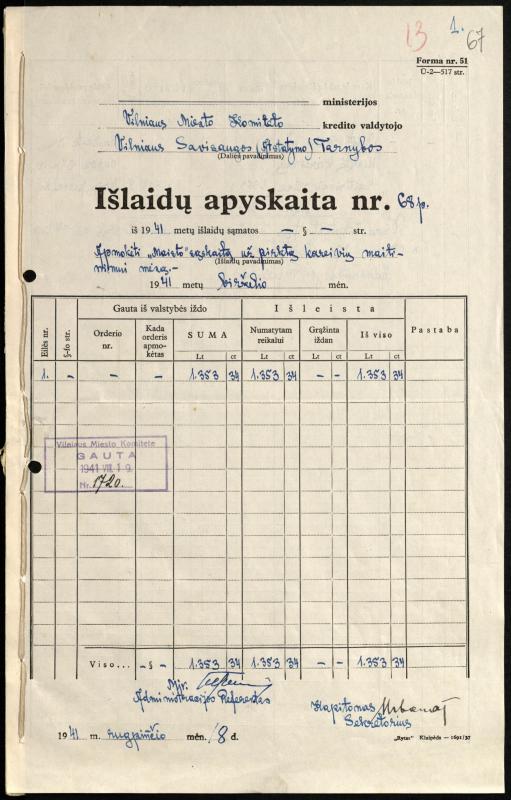 Vilniaus savisaugos tarnybos sąskaita