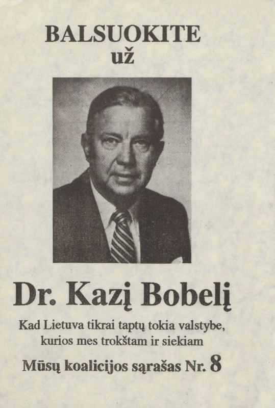 Kazys Bobelis. Lietuvos krikščionys demokratai