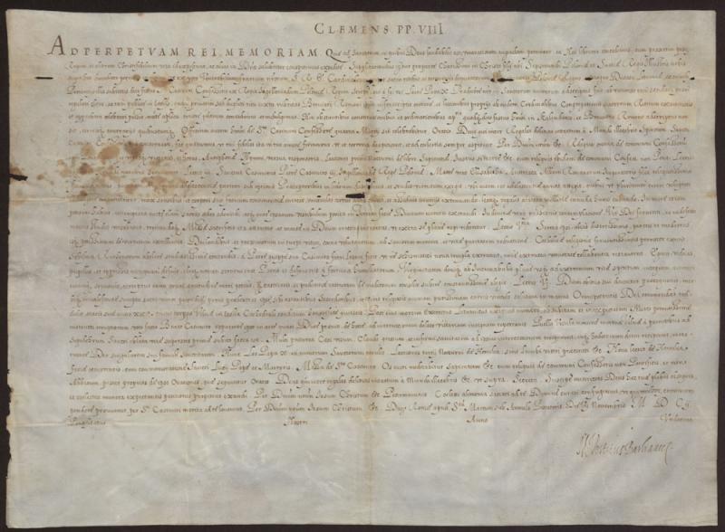 "Popiežiaus Klemenso VIII brevė ""Quae ad sanctorum"""