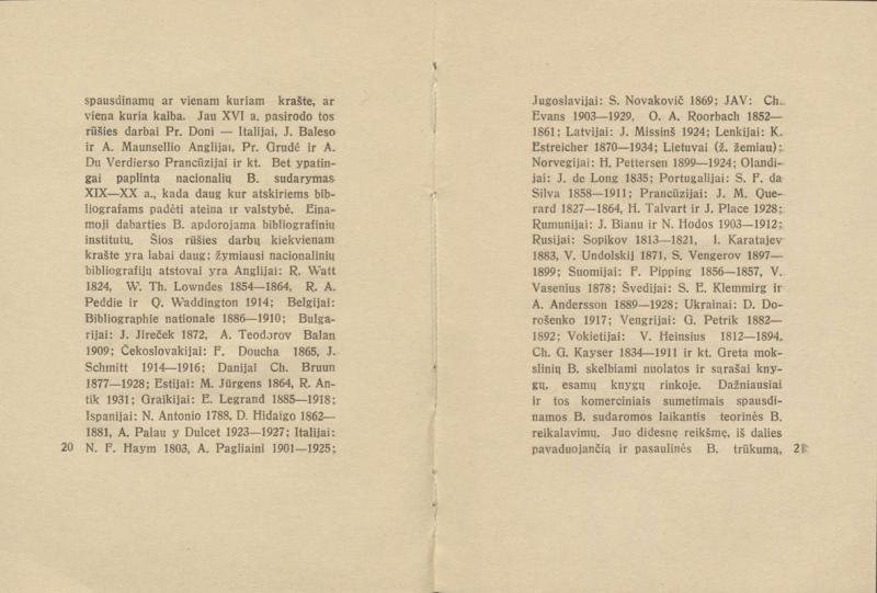 """Biržiška, Vaclovas. Bibliografija. Kaunas: XXVII knygos mėgėjai, 1935. 44 p.: iliustr., faks. Spausdino akcinės bendrovės """"Varpas"""" spaustuvė."""